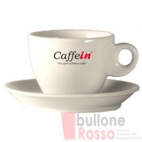 MILCHKAFFEE TASSEN MIT UNTERTASSE 305cc 6er SET CAFFEIN