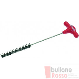 BÜRSTE ROT  RED PULL-THROUGH BRUSH SCOVOLINO SPAZZOLINO ROSSO