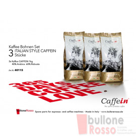 CAFFEIN ITALIAN STYLE 1 Kg BOHNEN KAFFEE CAFFEIN ITALIAN STYLE 1 Kg CAFFÈ IN GRANI CAFFEIN ITALIAN STYLE 1 Kg COFFEE BEANS