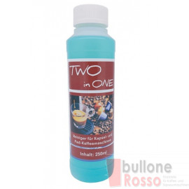 CAFFEIN Two in One REINIGER ENTKALKER DETERGENTE DISINCROSTANTE CLEANER DECALCIFER 250ml