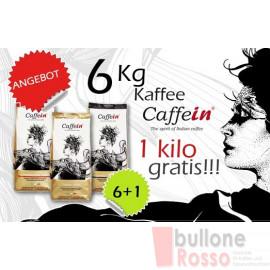 CAFFEIN ESPRESSO BAR BLEND BOHNEN KAFFEE 6 kg + 1 kg GRATIS