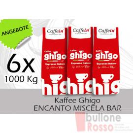 GHIGO ENCANTO MISCELA BAR BOHNEN KAFFEE COFFEE BEANS CAFFÈ IN GRANI